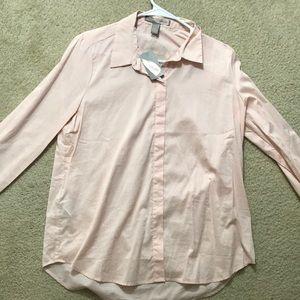 Forever 21 Woven Shirt Blush